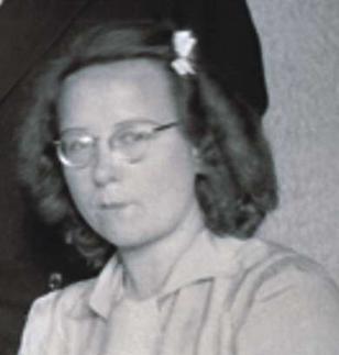 Bep Voskuijl in 1945. Bron: cc