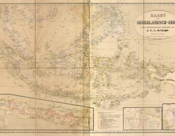 Het Cultuurstelsel - Negentiende-eeuwse kaart van Nederlands-Indië - cc