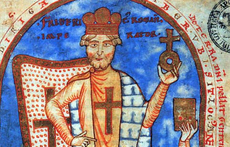 Keizer Frederik Barbarossa (1122-1190) als kruisvaarder