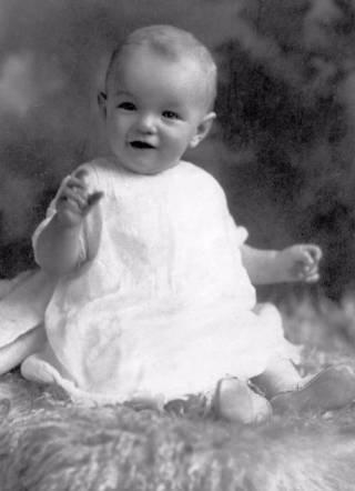 Marilyn Monroe als baby