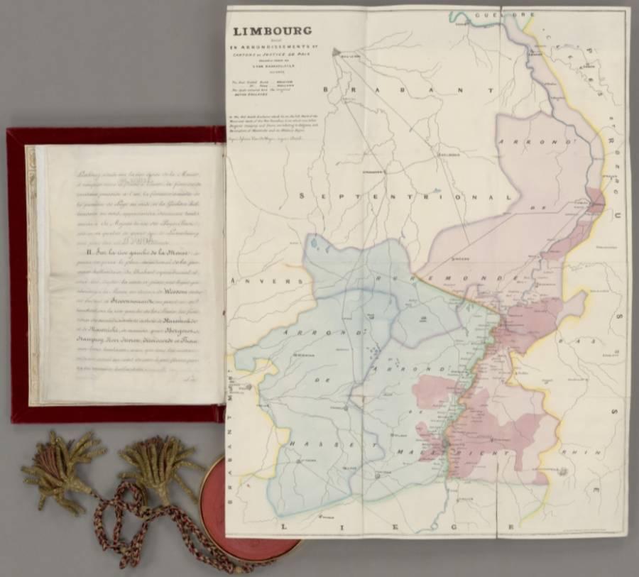 Pagina uit het Scheidingsverdrag met België (cc - Nationaal Archief)