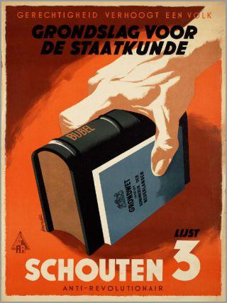 Verkiezingsposter van de Antirevolutionaire Partij (Geheugen van Nederland)