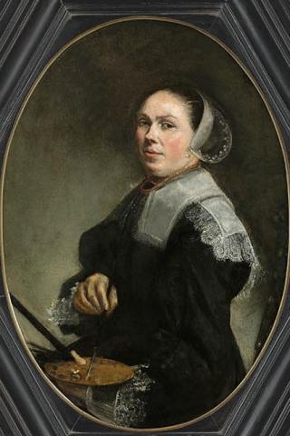 Zelfportret van Judith Leyster uit ca. 1653