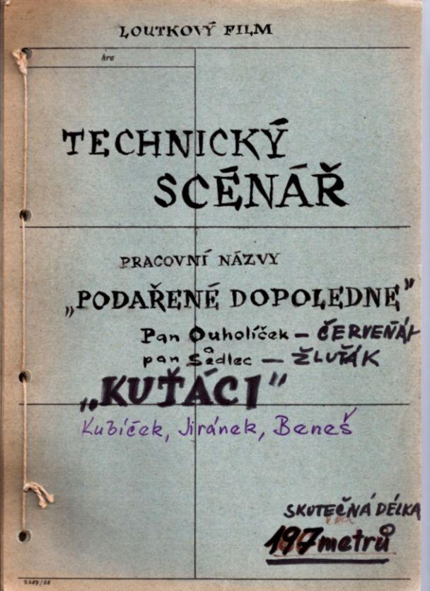 Allereerste draaiboek van Buurman & Buurman (Museum van de 20e Eeuw)