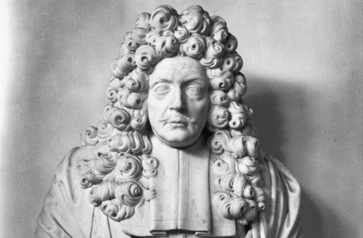 Buste van Joan Huydecoper (1625-1704) in het Paleis op de Dam