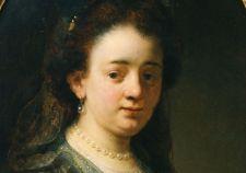 Portret Saskia Uylenburgh geschilderd door Govert Flinck