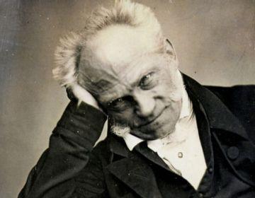 Arthur Schopenhauer op een daguerreotypie uit 1852