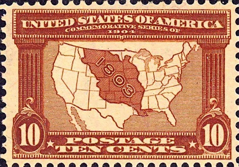 Postzegel ter herinnering aan de Louisiana Purchase (U.S. Post Office)