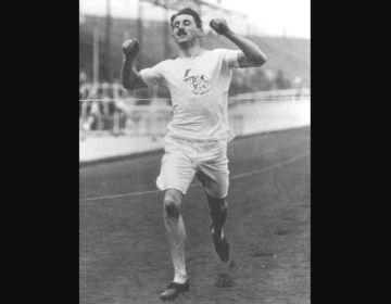 Wyndham Halswelle tijdens de finale van de 400 meter