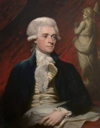Thomas Jefferson in 1786, schilderij van Mather Brown