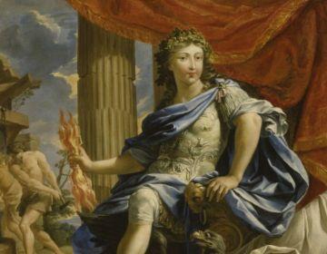 Droit divin - Lodewijk XIV, afgebeeld als de god Jupiter