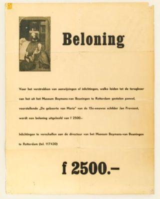 Beloningsposter voor het gestolen werk - Foto Aad Hoogendoorn - BvB