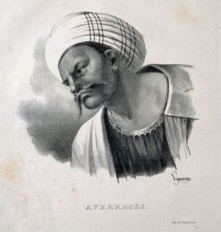 Averroës op een lithografie van P. R. Vignéron uit 1825