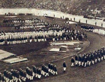 Ceremonie voor de opening van de Olympische Spelen van 1928 (Le Miroir des sports)