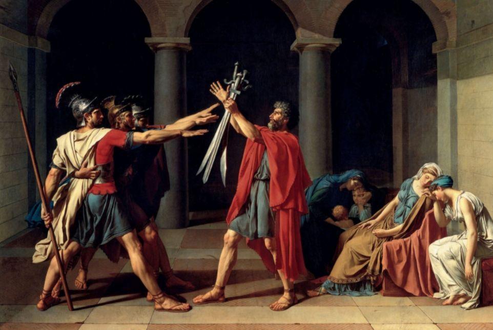 De eed van de Horatii - Jacques-Louis David