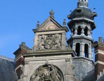 Detail van het Academiegebouw van de Universiteit Utrecht (cc - Fruggo - wiki)