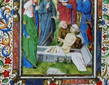 Lazarus in het getijdenboek van Maria van Bourgondië