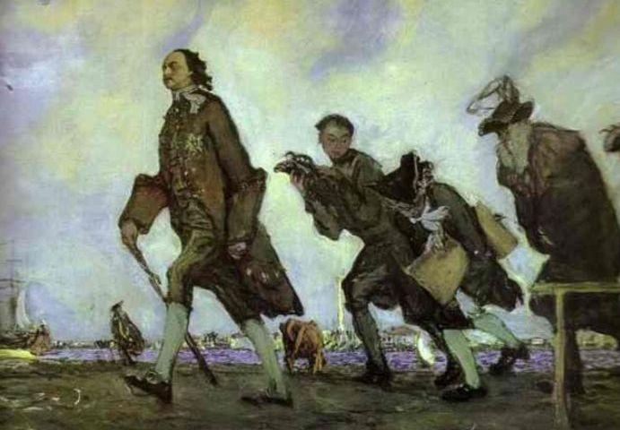 Wandelende Peter de Grote - Valentin Serov, 1907