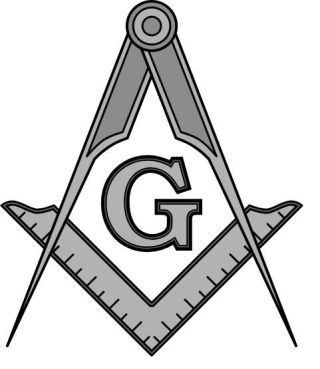 Passer en Winkelhaak, symbolen van de Vrijmetselarij