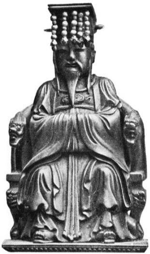 Bronzen beeld van Confucius