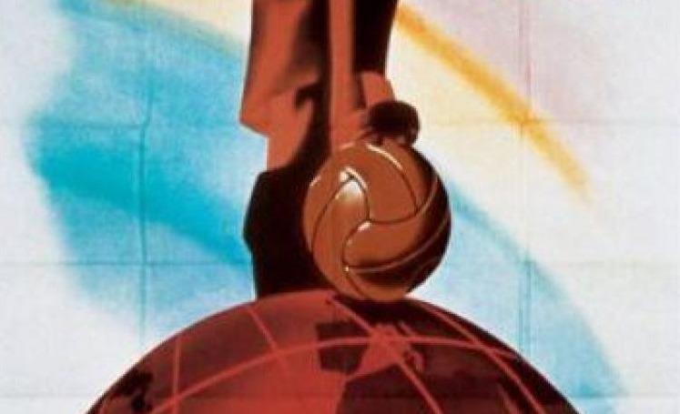 Detail van de poster voor het WK 1938