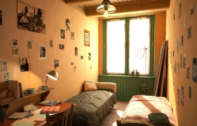 Beeld uit de VR-tour door het Achterhuis (Anne Frank House VR, copyright Anne Frank Stichting)