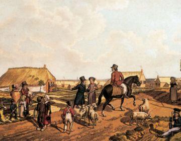 Gezicht op Willemsoord, getekend door H.P. Oosterhuis. Afbeeldingen uit: Zomer van 1823