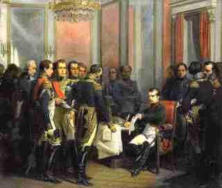 Ondertekening van het verdrag van Fontainebleau, 1807