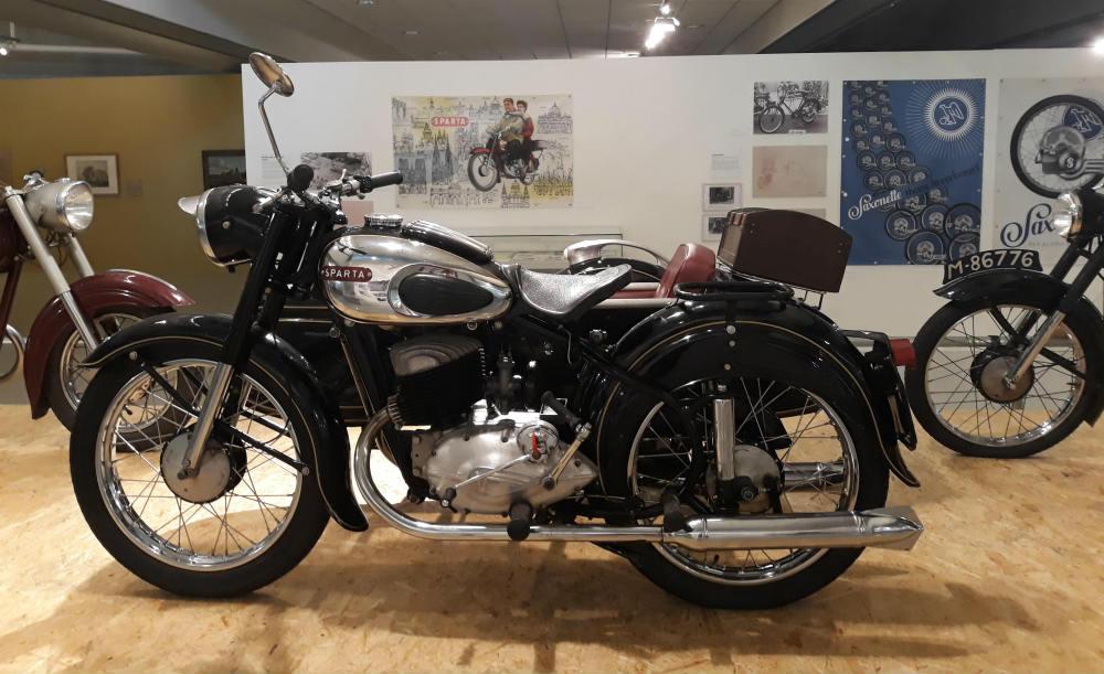 Sparta-motor te zien bij CODA (Foto Historiek)