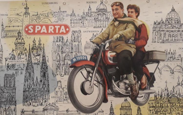 Sparta-reclame te zien in de CODA-tentoonstelling (Foto Historiek)