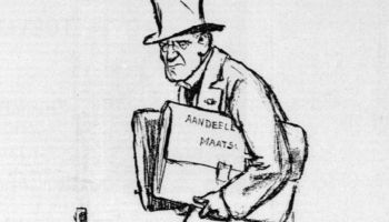 Karikatuur van een Droogstoppel in de Telegraaf van 9 mei 1928 (Delpher)