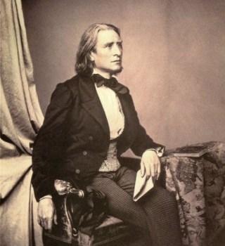 Liszt in 1858 door Franz Hanfstaengl (Publiek Domein - wiki)