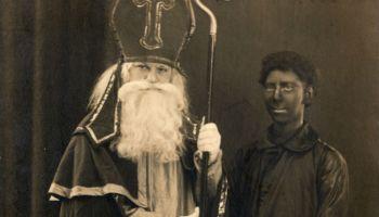 Sinterklaas en zwarte piet, 1920 (CC BY-SA 3.0 NL - CODA Apeldoorn - Europeana)
