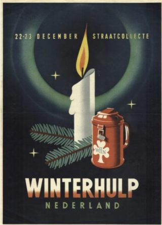 Poster Winterhulp Nederland,  collecte 22 en 23 december (CC0 - Netwerk Oorlogsbronnen - wiki)
