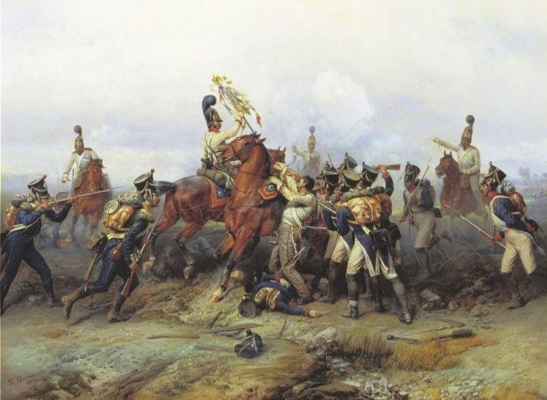 Slag bij Austerlitz - De Russen veroveren hun enige buitgemaakte vaandel