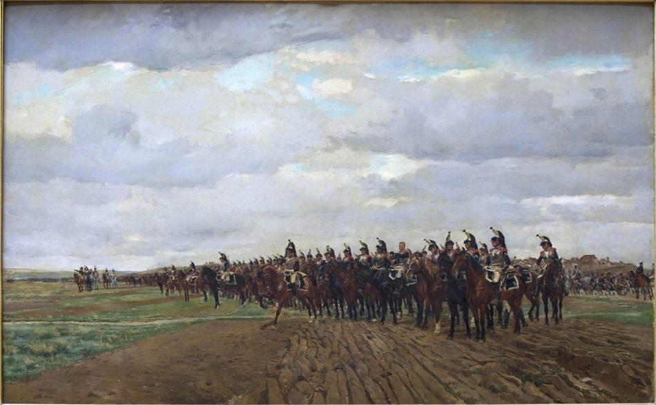 Slag bij Austerlitz - Franse kurassier nemen hun positie in, Jean-Louis-Ernest Meissonier (cc0 - wiki)