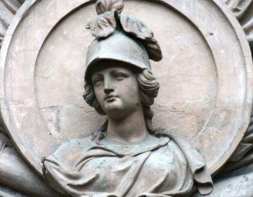 Buste boven de toegangsdeur van het Bellonahuis te Brussel (CC BY-SA 3.0 - Michel wal - wiki)