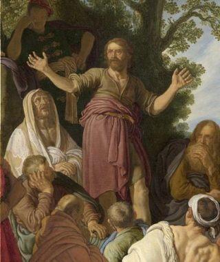 Detail van het werk ('De prediking van Johannes de Doper' - Pieter Lastman, 1627 (Den Haag, Mauritshuis)