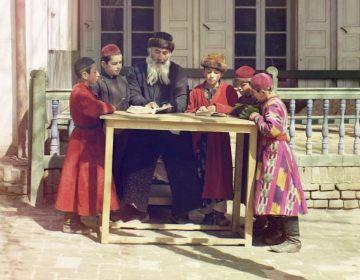 Diaspora - Joden in Samarkand, Centraal-Azië, ca. 1910 (Publiek Domein - wiki)