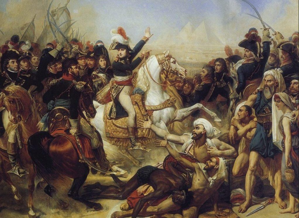 Napoleon tijdens de Slag bij de Piramiden, 1798 -  Antoine-Jean Gros