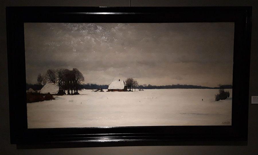 Gezicht op Elspeet in de sneeuw - Arthur Briët (Foto Historiek)