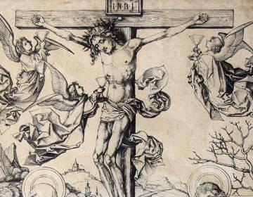 Detail van de prent van Martin Schongauer (Afb: Rijksmuseum)
