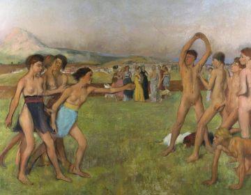 Jonge Spartanen in training - Edgar Degas (Publiek Domein - wiki)