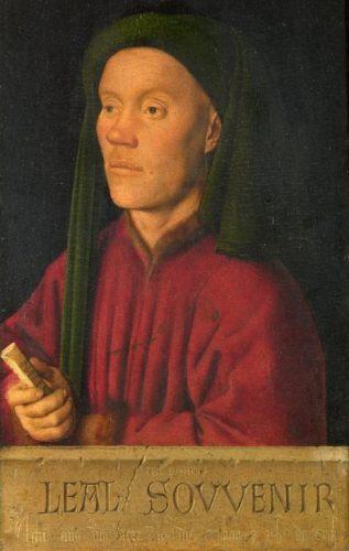 Léal Souvenir (Timotheus) - Schilderij waarop Kan Van Eyck mogelijk Hubert van Eyck afbeeldde (Publiek Domein - wiki)