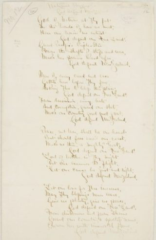 Oorspronkelijke tekst van het lied, door Thomas Bracken (Publiek Domein - wiki)