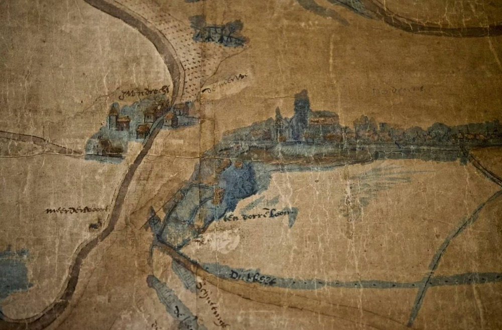 'Reuzenkaart' uit 1540 vertelt over verdwenen plaatsen (en zalm)