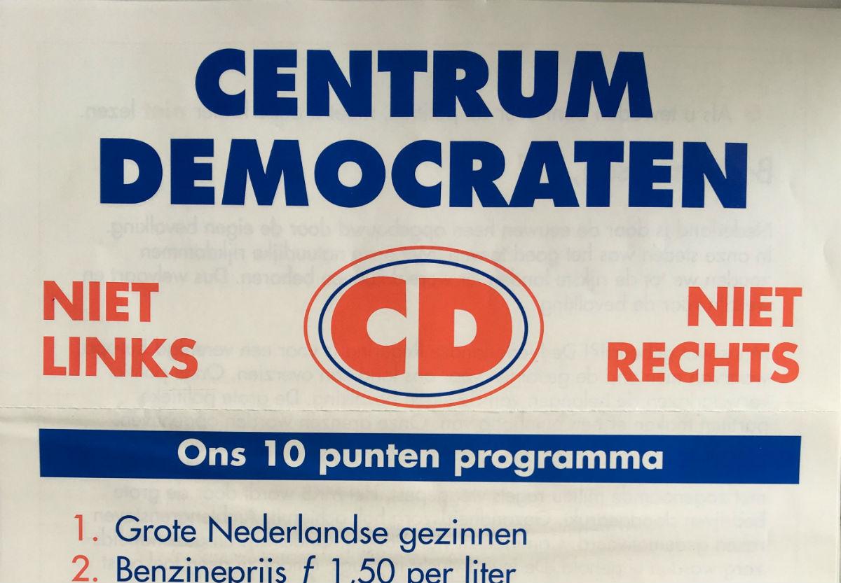 De Centrumpartij (CP) en de Centrumdemokraten (CD)