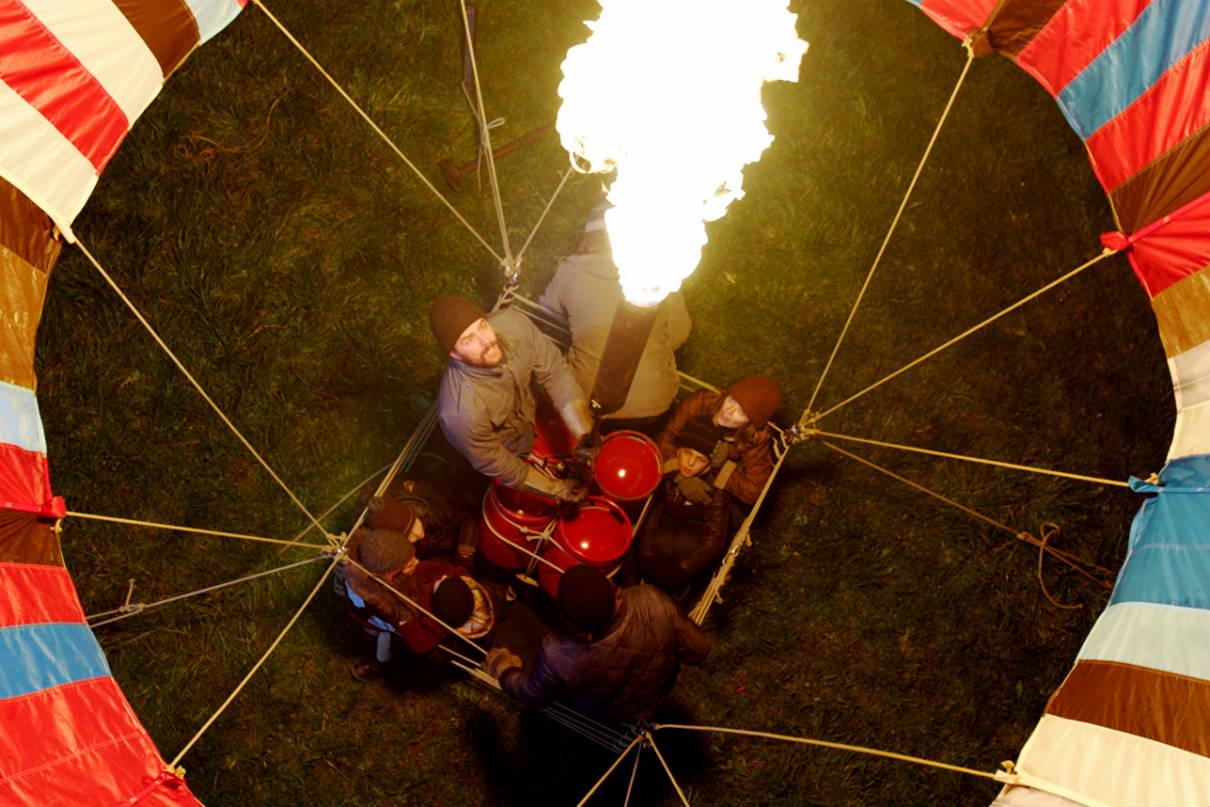 Met een luchtballon de vrijheid tegemoet