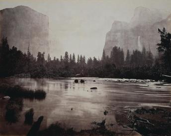 Eadweard J. Muybridge; Valley of the Yosemite, from Rocky Ford; 1872; albumen print from wet collodion negative; 43.1 cm x 54.8 cm; The Cleveland Museum of Art