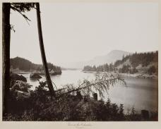 Carleton E. Watkins; View from the Columbia, Cascades 1876; albumen silver print from glass negative; The Metropolitan Museum of Art